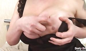 Kandi Vibrator Fucks Boobs Increased by Pussy