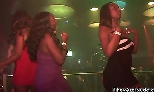 Sexy ebony sluts get sex-mad blinking