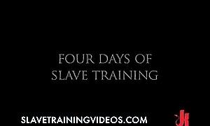 Secured up slave gets caned plus whipped in improper bondage