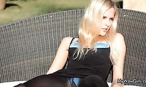 Sexy kirmess pet receives horny outdoor