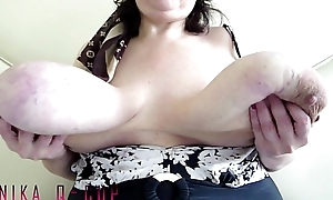 Granny Anika Q - Heavy Hangers in Your Face