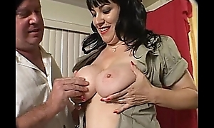 Magnificent Hairy Brunette getting drilled