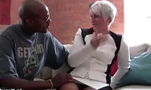 Horny mature mom receives seduced off out of one's mind a black