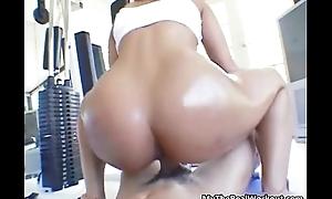 Sexy asian babe rides an hard cock