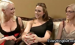 Babe anal mistreated by two lesbians
