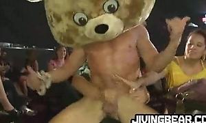 Dancing bear lap dances landowners at the club