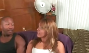 Interracial housewife banged