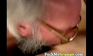 Grandpa receives really  lucky