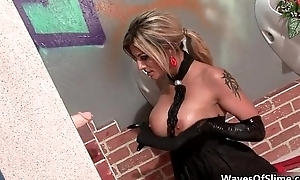 Sexy blonde battle-axe goes crazy getting the brush