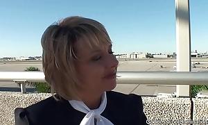 Pantyhose Footjob - Flight Attendants Little Black Book