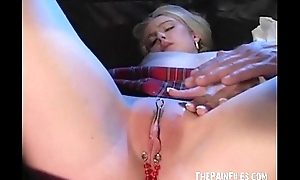 Kinky hardcore sex orgy and snag a grasp at of flaxen-haired slaveslut