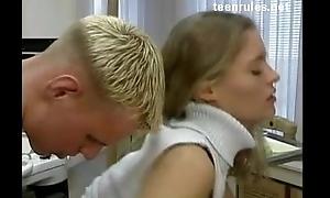 Astonishing amateur blonde homemade sex
