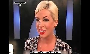 Sexy german black neonate gets cum shower