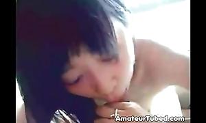 Cute korean unpaid legal age teenager gf bj