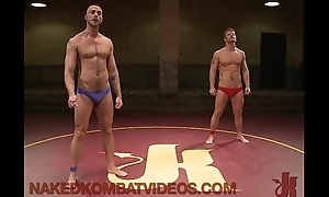 Muscle gays wrestling and anal fucking and gangbanging on mats
