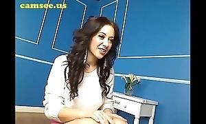 Busty brunette masturbating on webcam convivial