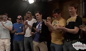 18yo Veronika with Fifty guys in bukkake gangbang Fixing 1