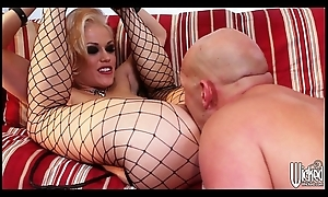 Sultry blonde dominatrix Ash Hollywood is screwed hard by her man