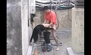 Brave man gets comprehensive all over roger in the construction site /100dates