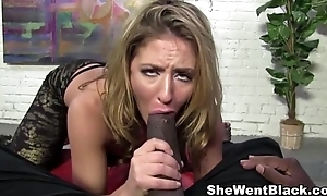 Slutty Blonde Sheena Shaw anal fucked away from Mandingo