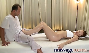 Massage Rooms Breathtaking youthful woman serviced then creampie