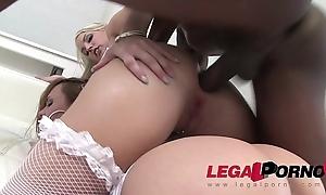 Blue Investor &amp_ Blanche Bradburry in interracial anal threesome