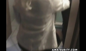 Clumsy Milf sucks increased by fucks at one's fingertips home with cumshot