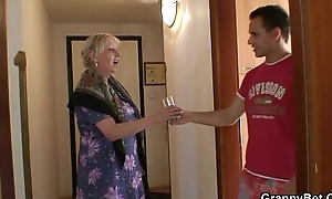Granny receives banged at the end of one's tether an young pickuper