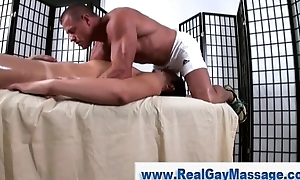 Straighty mouth fucked by masseuse stump