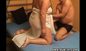 Heavy amateur get hitched sucks and fucks roughly cum in mouth