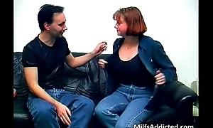 Amateur German mature couple having intercourse