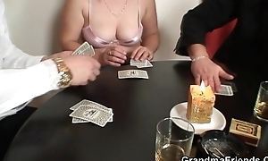 Granny loses beside strip poker