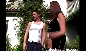 In toto completely horny older woman