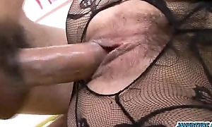 X-rated lacey suit heavens Hatsuka Kobayashi has a perfect shafting hole