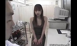 Sweet Asian slut enjoys in painful