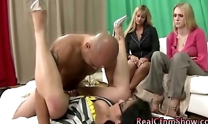 Cfnm amateur femdom be thrilled by and jizz flow
