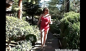 Scatological MILF acquires double fucked as malignant