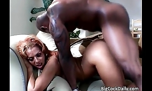 Ebony sweet heart yells while big frowning