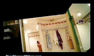 Public sauna Voyeur