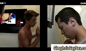 Cute unconcerned eats straight cock