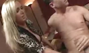 Hot Blond teaches wife how to blow husband
