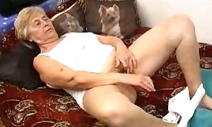 Sexy granny can't live without toys