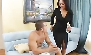 Asian milf fucking say no to son's best friend