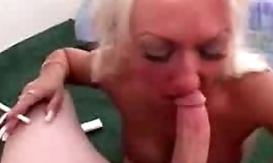 Smoking gold with fake heart of hearts sucking cock