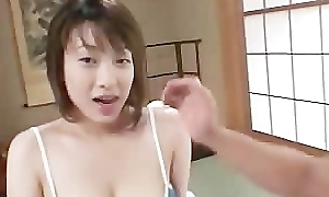 Carrying-on with the brush definitely bosomy oriental tits