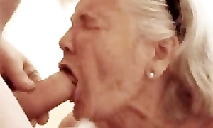 Granny likes engulfing dick