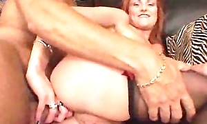 British Unshaded Anal Fucked By Black Guy