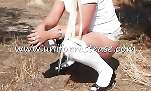 schoolgirl pissing knickers down mini skirt up teen cute despondent