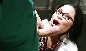 Sophia Lomeli wraps her lips together with pussy around hard cock