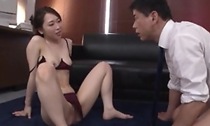 Astonishing Japanese lady in chap-fallen lingerie gets deeply screwed